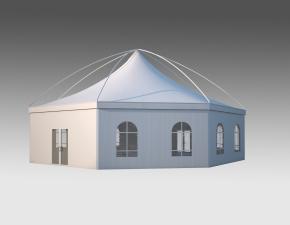 Kiraye cadirlar - Шестигранный шатер Лондон Диаметр 15м – cadirlarin kirayesi, satisi ve qiymeti