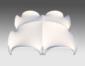 Kiraye cadirlar - Арочный шатер 20х20 — 400 м²  – cadirlarin kirayesi, satisi ve qiymeti