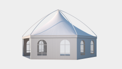 Kiraye cadirlar - Altıtərəfli çadır London diametr 10m – cadirlarin kirayesi, satisi ve qiymeti