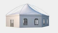 Kiraye cadirlar - Altıtərəfli çadır London diametr 15m – cadirlarin kirayesi, satisi ve qiymeti