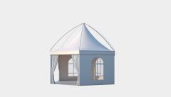 Kiraye cadirlar - Altıtərəfli çadır London diametr 6m – cadirlarin kirayesi, satisi ve qiymeti