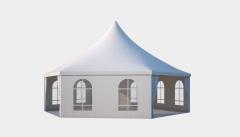 Kiraye cadirlar - Altıtərəfli çadır Rimini diametr 10m – cadirlarin kirayesi, satisi ve qiymeti