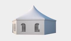 Kiraye cadirlar - Шестигранный шатер стандарт Диаметр 12м – cadirlarin kirayesi, satisi ve qiymeti