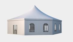 Kiraye cadirlar - Altıtərəfli çadır standart diametr 15m – cadirlarin kirayesi, satisi ve qiymeti