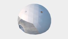 Kiraye cadirlar - Сферический шатер диаметр 16 м  – cadirlarin kirayesi, satisi ve qiymeti