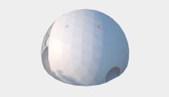 Kiraye cadirlar - Сферический шатер диаметр 20 м  – cadirlarin kirayesi, satisi ve qiymeti