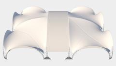 Kiraye cadirlar - Арочный шатер 25х20 — 500 м²  – cadirlarin kirayesi, satisi ve qiymeti
