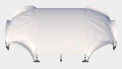 Kiraye cadirlar - Арочный шатер 27х20 — 460 м² – cadirlarin kirayesi, satisi ve qiymeti
